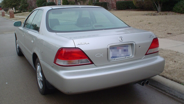 White on 1996 Acura TL